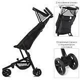 Детская туристическая коляска ME 1033 QWERTY BLACK, фото 2