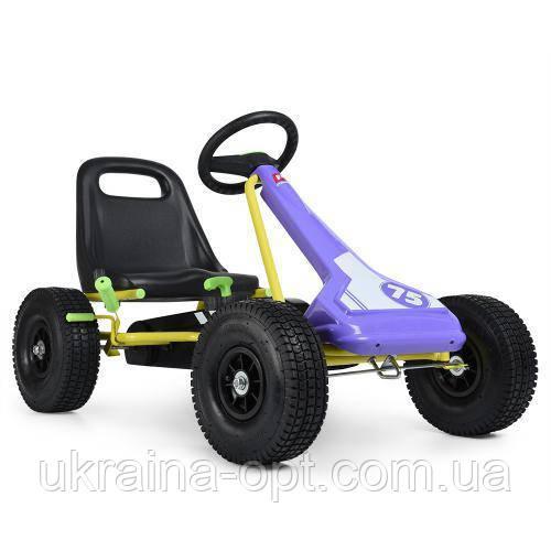 Веломобиль. Для детей от 3 лет. Ручной тормоз. Надувные колеса. Profi M 3613-9