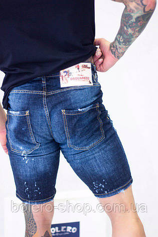 Шорты джинсовые мужские  рваные Dsquared2 , фото 2