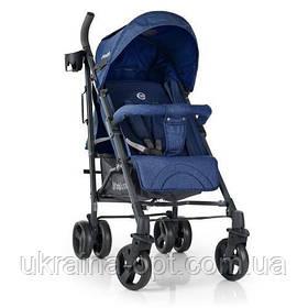 Детская прогулочная коляска. Материал рамы: сталь. Ткань лен. Вес 8.65 кг. EL Camino Breez ME 1029 Space Blue