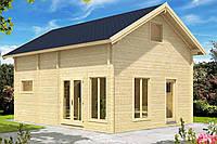 Дом деревянный из профилированного бруса 5.6х7.6. Скидка на домокомплекты на 2020 год