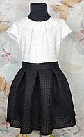 Сарафан школьный на девочку, р. 134-152, белый+черный