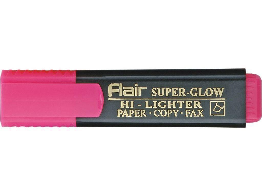 Текстовый маркер  Flair Superglow Hi-lighter, 1-5мм, розовый