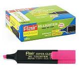 Текстовый маркер  Flair Superglow Hi-lighter, 1-5мм, розовый, фото 2
