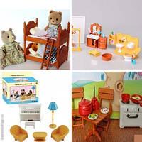 Набор мебели для домиков (5 шт!!!) Sylvanian Families Happy family