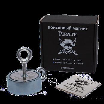 Поисковый магнит Пират F-300*2 Двухсторонний + Трос в подарок!, фото 2