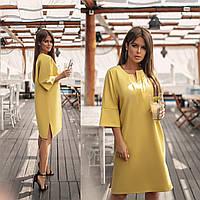 Женское платье с рукавом три четверти.Размеры:48-58.+Цвета, фото 1