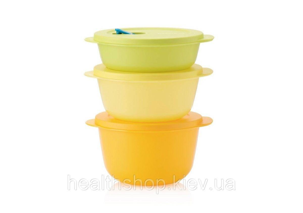 """Набор контейнеров """"Новая волна"""" (1 л, 1,5 л, 2 л) для разогревания Tupperware"""