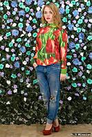 Блуза Тюльпаны