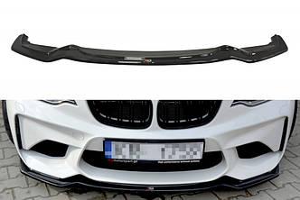 Диффузор переднего бампера губа сплиттер тюнинг BMW M2 F87 Coupe