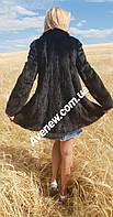 Женская черная норковая шубка, фото 1