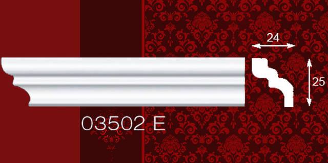 Плинтус потолочный 03502Е 24*25 2м