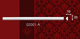 Плинтус потолочный пристенный 02001А 18*20мм 2м