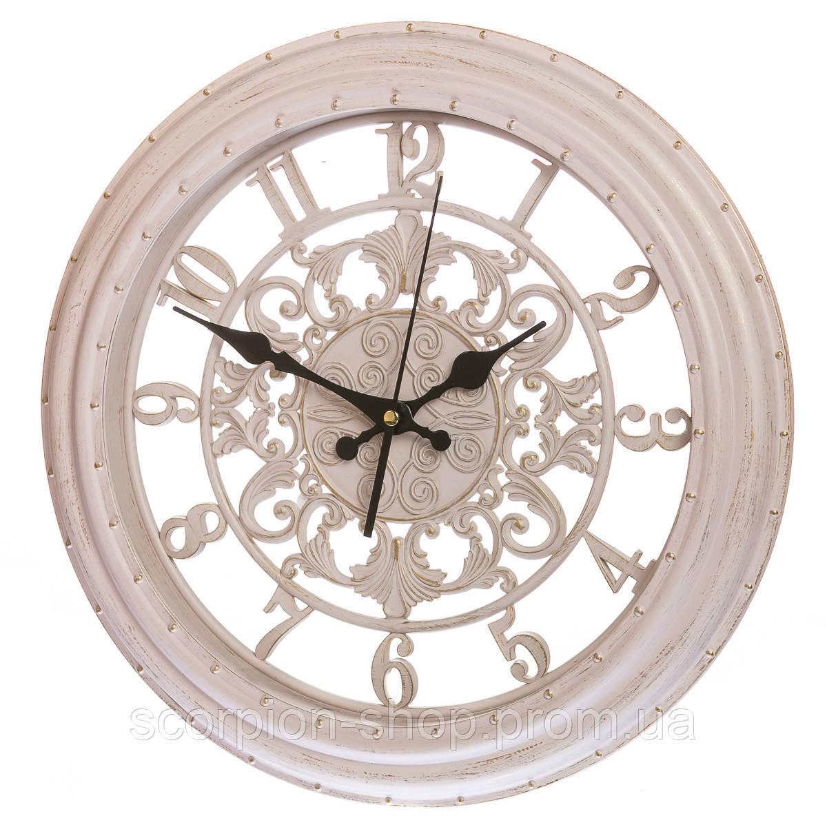 Настенные часы (Ø 36 см) ажурные (133A/cream)
