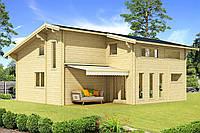 Дом деревянный из профилированного бруса 8.5х9.6. Скидка на домокомплекты на 2020 год