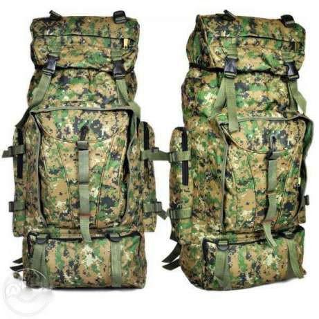 Туристический, военный, походный, кемпинговый, рыбацкий, рюкзак на 75 литров, комуфляжный