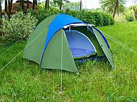 Палатка двух слойная четырёх 4 местная с тамбуром туристическая рыбацкая кемпинговая