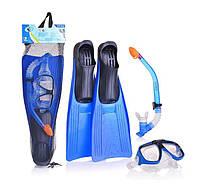 Комплект, ласты, маска, трубка, intex, sport, размеры с 34 по 45