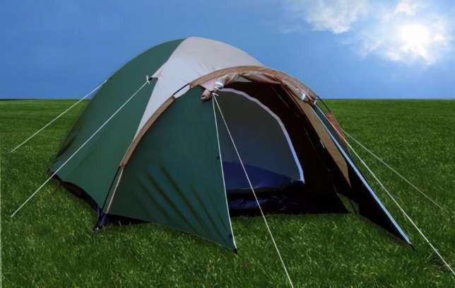 Палатка шести 6 местная с тамбуром двухслойная туристическая рыбацкая