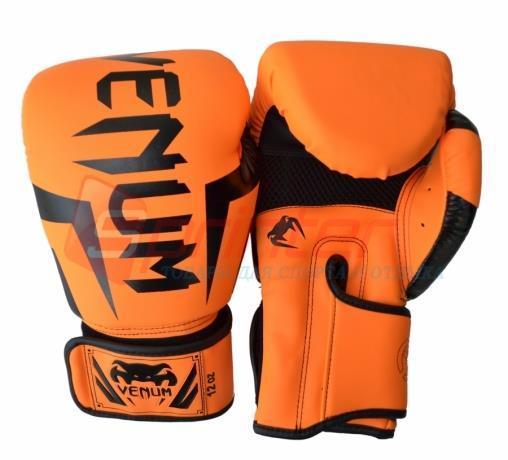 Боксерские перчатки Venum. Размер:10.Цвет: оранжевый.