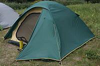 Палатка, четырех 4 местная двухслойная с козырьком поддоном тамбуром