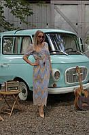 Летнее платье-халат M