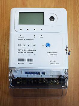 Трехфазный счетчик многотарифный ЛЕТ 01 2121R-LOS02S 3х220/380В 5(10)А реле, PLC-модуль, актив-реактив