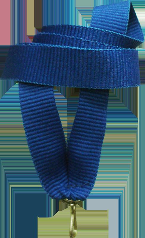 """Лента для медали """"синяя"""" 15 мм"""
