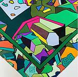 В лабиринте снов 10061-10, павлопосадский платок (крепдешин) шелковый с подрубкой, фото 4