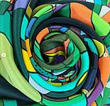 В лабиринте снов 10061-10, павлопосадский платок (крепдешин) шелковый с подрубкой, фото 3