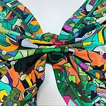 В лабиринте снов 10061-10, павлопосадский платок (крепдешин) шелковый с подрубкой, фото 8