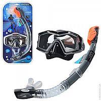 Професиональная маска с трубкой для подводного плаванья дайвинга с натуральным каленным стеклом