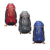 Рюкзак туристический спортивный на 60 литров высокого качества с ребрами жосткости удобный универсальный