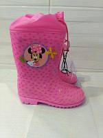 Резиновые сапожки с затяжкой Disney 25-33 размер Минни