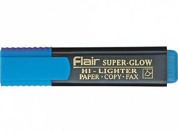 Текстовый маркер  Flair Superglow Hi-lighter, 1-5мм, синий