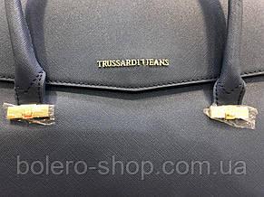 Сумочка Италия Trussardi Jeans кожа синяя, фото 2