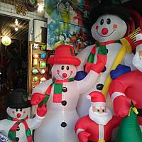 Надувной, снеговик, электрический, модный, красивый, светящийся