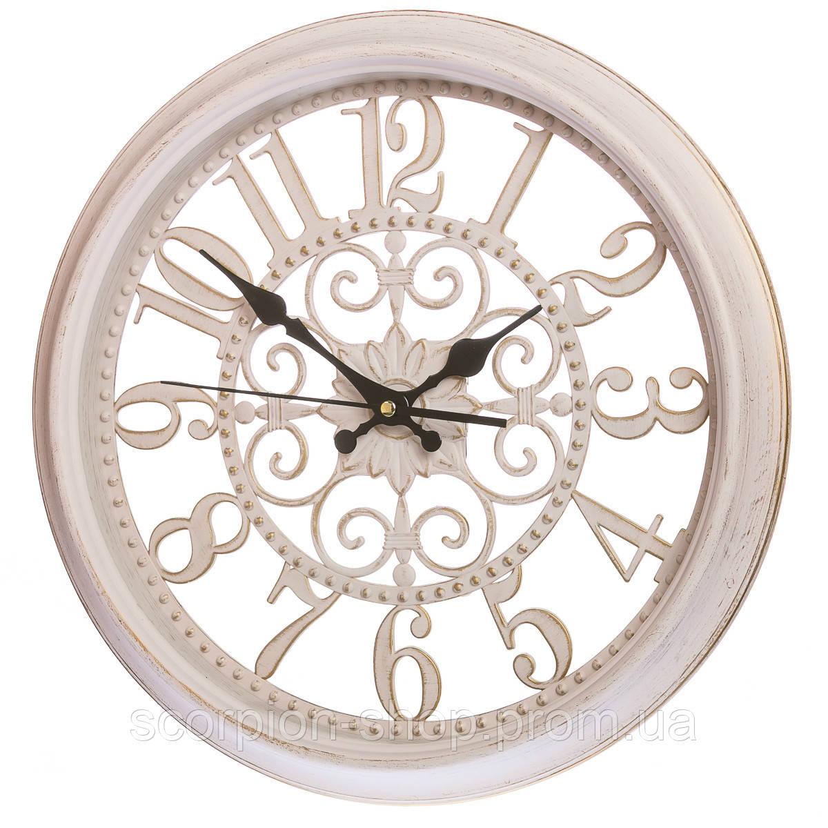Настенные часы (Ø 36 см) ажурные (069A/cream)