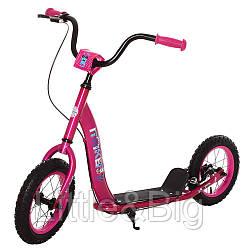 *Самокат для детей и взрослыхScooter с ручным тормозом (РОЗОВЫЙ) арт. 2-043-P