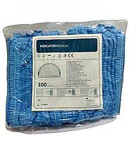 Шапочка одноразовая Mercator Medical голубая W123100000