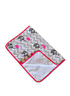Непромокаемая двусторонняя детская пеленка DavLu Слоники 50х70 см белая (Pel-n-003)
