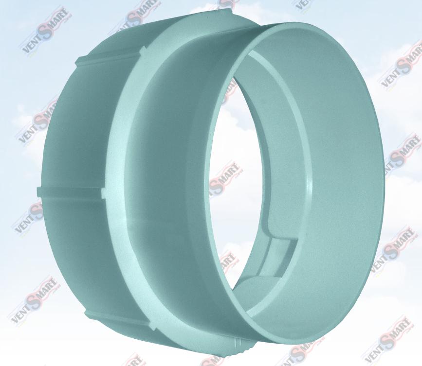 Внешний вид патрубка резьбового для гибких круглых каналов системы воздуховодов ПЛАСТИВЕНТ производства ВЕНТС (Украина). Резьбовый соединитель для гибких круглых каналов изготовлен из пластика высокого качества, который не поддерживает горение, имеет гладкую внутреннюю поверхность и широкий диапазон температур эксплуатации ― от -30 до +70 гр. Цельсия.