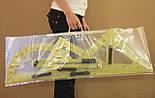 Демонстраційний комплект вимірювальних приладів (лінійка 1м, 2 трикутники, циркуль, транспортир), фото 8
