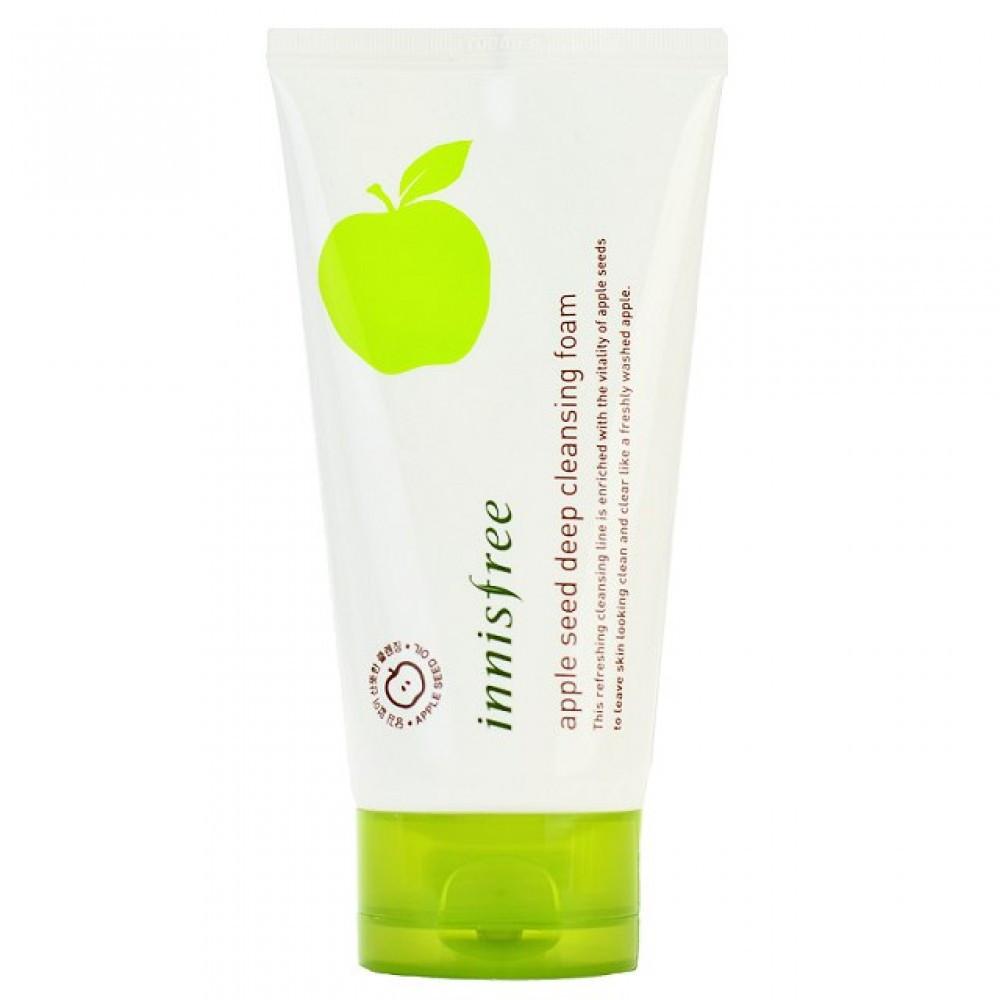 Пенка для умывания с экстрактом яблока Innisfree Apple Seed Deep Cleansing Foam, 150 мл