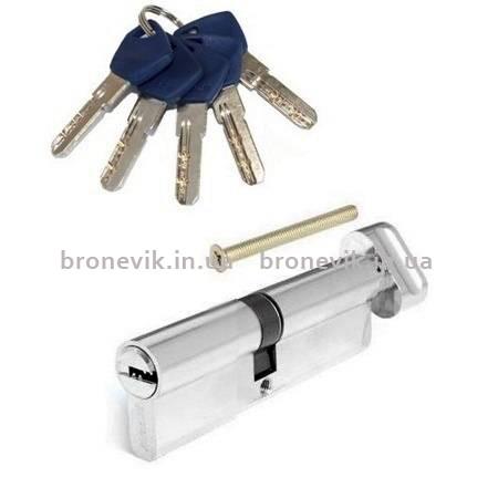Цилиндр Apecs Standart EM-90(40х50C)-C-NI никель ключ/поворотник
