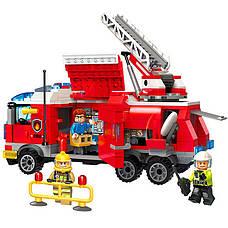 """Конструктор Brick 2807 """"Пожарная машина"""" 366 деталей, фото 2"""