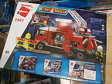 """Конструктор Brick 2807 """"Пожарная машина"""" 366 деталей, фото 3"""