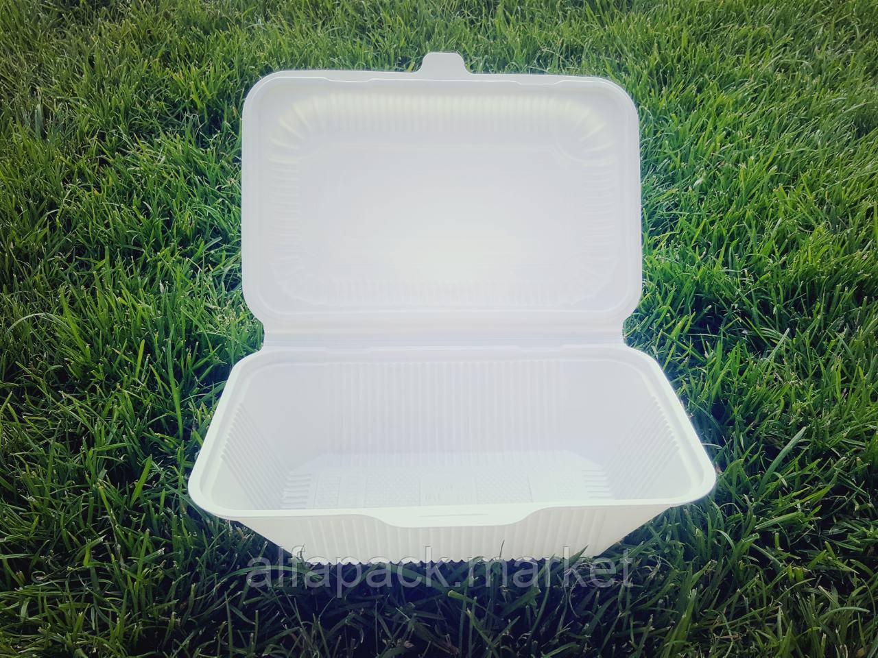 Ланч-бокс глубокий (из кукурузного крахмала) (100 шт в упаковке) 060800016