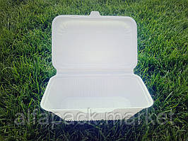 Ланч-бокс глубокий (из кукурузного крахмала) (100 шт в упаковке)