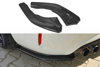 Боковые диффузоры заднего бампера юбка сплиттер тюнинг BMW M2 F87 Coupe